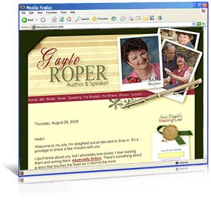 Web site redesign for author Gayle Roper