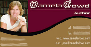 Author Pam Dowd's Business Card