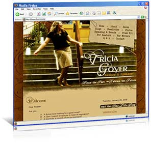 Web Site Redesign for Author Tricia Goyer