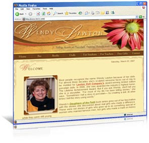 Website redesign for author Wendy Lawton